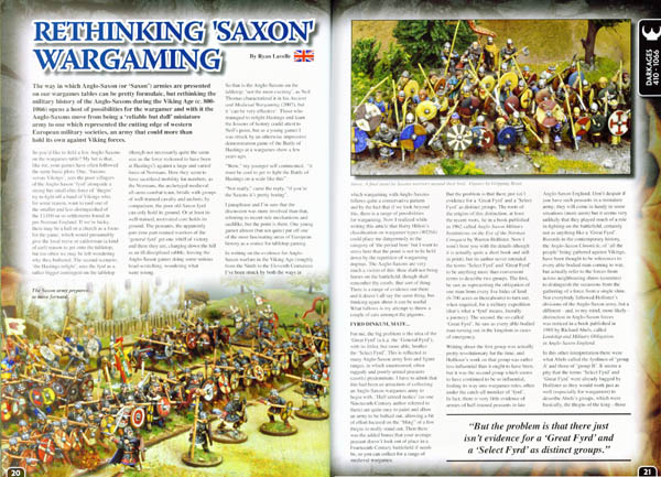 Wargames Illustrated article sample